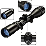 SONICKING Tactical 3-9x40 AO Riflescope Duplex Reticle Hunting Gun Scope with 20mm Mounts