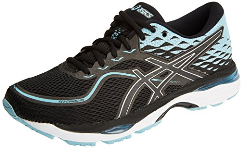 Asics Women's Gel-Cumulus 19 Running Shoes Black (Black/Porcelain Blue/White 9014) 6aC9G3G9
