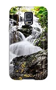 Galaxy S5 Hard Back With Bumper Silicone Gel Tpu Case Cover Waterfall