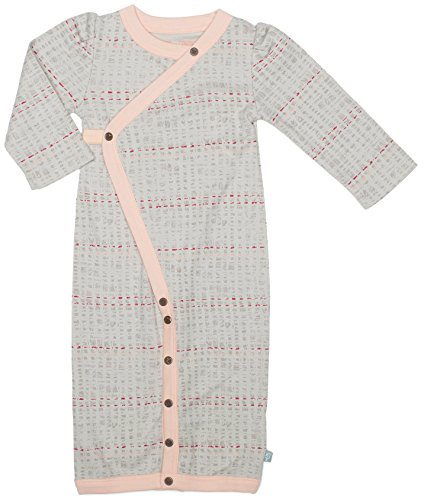 Emma Kids Dress (Finn + Emma Organic Cotton Convertible Gown/Coverall for Baby Boy or Girl – Scribble, 3-6 Months)