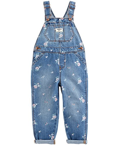 Osh Kosh Girls' Toddler World's Best Overalls, Cornflower Wash, 4T by OshKosh B'Gosh