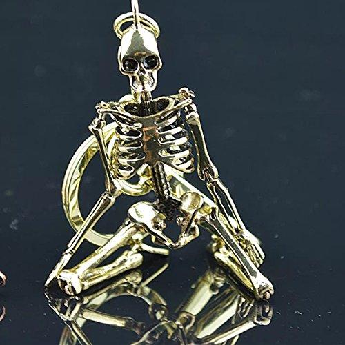 VT BigHome Pendant Key Chain For Men Women Antique Silver Color Metal Alloy Skull Bag Charm Key Ring Car Keychain Keyring
