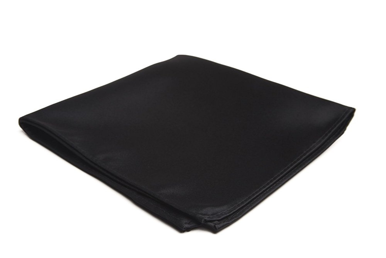 Harvest Male Silk Pocket Square - 100% Silk Handkerchief for Men's Suit (Black)