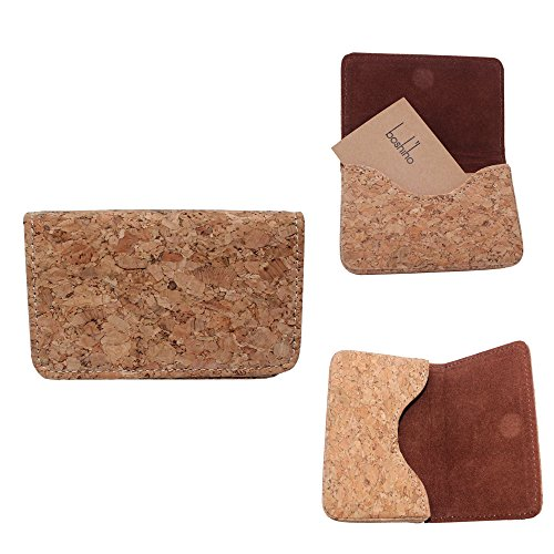 Boshiho Cork Business Card Case Eco-friendly Vegan Name Card Holder