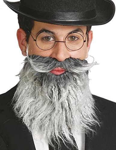 Old Man Beard Set Top Hat Adults Fancy Dress Adult Victorian Costume Accessory