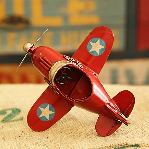 Wall of Dragon Model Home Decor Iron Plane Model Iron Aircraft Glider Biplane Pendant Airplane Figurines Status Metal Plane by Wall of Dragon (Image #2)