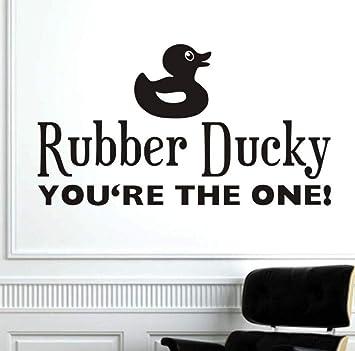 Caucho Ducky YouRe The One Cute Sayings Etiqueta de La Pared Pato ...