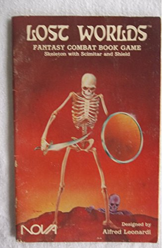 Frantic Worlds Fantasy Combat Book Game: Skeleton with Scimitar and Shield