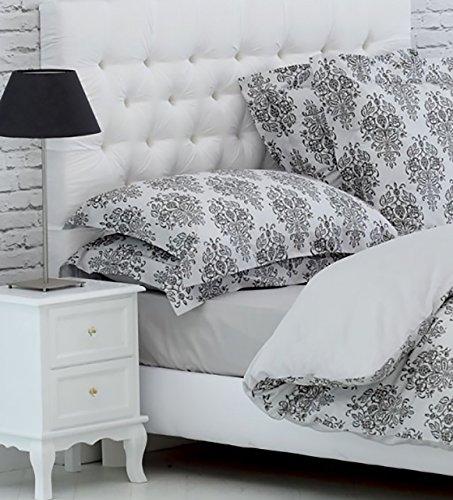 Givi Lulu Coppia di FEDERE A 4 VOLANI 50X80 Alta QUALITA Cotone Egiziano Varie Fantasie Albury Cotone Sateen 600 Fili Bianco
