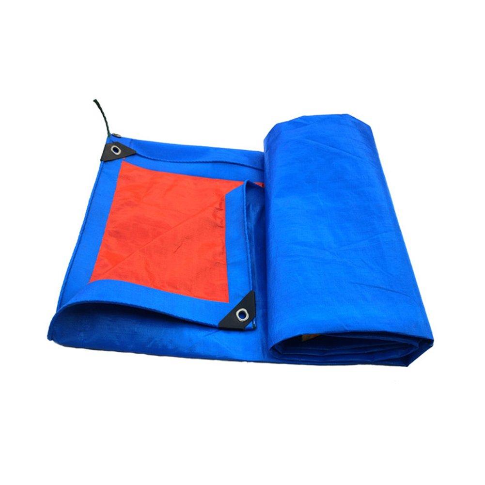 CHAOXIANG オーニング 厚い 耐摩耗性 折りたたみ可能 防水 耐寒性 耐高温性 老化防止 防塵の PE 青、 180g/m 2、 厚さ 0.35mm、 19サイズ (色 : 青, サイズ さいず : 5×6m) B07D32HJ2C 5×6m|青 青 5×6m