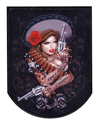 Sexy Mamacita Latina Guns 187 Tactical Morale Hook Loop Compatible ()
