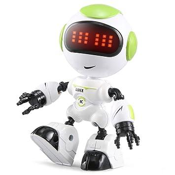 Robot Educación Led Touch Niños Control Sensing Juguetesverde Juguete Voice Eyes Melyseu Smart Pequeños nwZPX80OkN