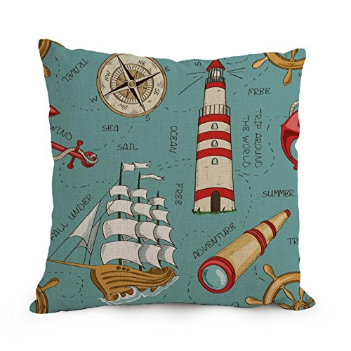 Loveloveu Nautical Pillow Cases ,best For Gril Friend,family,boy Friend,her,boys,indoor 18 X 18 Inches / 45 By 45 Cm(two (Girl Minion Costume In Stock)