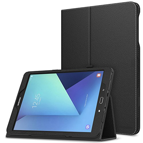 MoKo Galaxy Tab S3 9.7 Case - Slim Folding Cover Case for Samsung Galaxy Tab S3 9.7 Inch Android 7.0 2017 Version Tablet (SM-T820 / T825), Black (with Auto Wake/Sleep and Stylus Pen Loop) (Samsung S3 Case Card Holder)