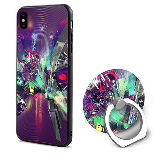 iPhone X Case Dance-Music-Wallpaper-4 with Ring Holder 360 Degree Rotating Stand Grip Mounts Slim Soft Protective Cover]()