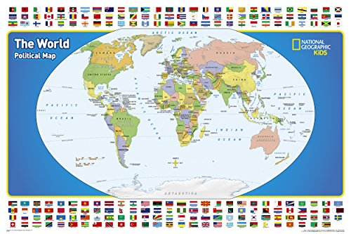 The World for Kids (National Geographic Reference Map) (Easy Christmas Programs For Kids)