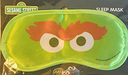 Sesame Street Sleep Mask Eye Mask Cover Shade Blindfold Sleeping Mask For Travel Or Home! Choose From Elmo, Cookie Monster, Or Oscar The Grouch! (Oscar The - Street Shades