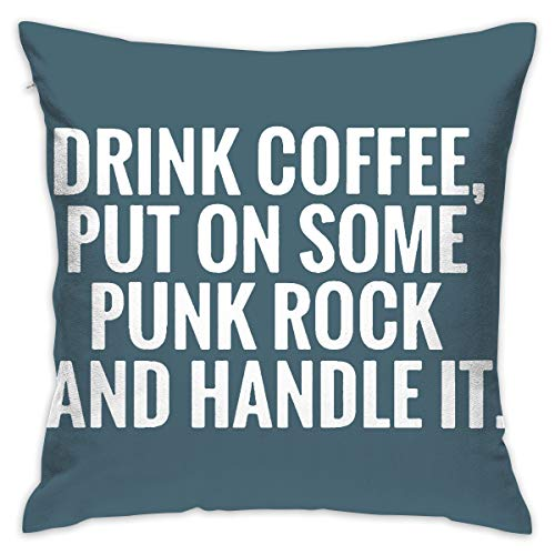 Yangkun Throw Pillow Covers Punk Rock 18 X 18 Inches Cushion Sham for Couch Bed Sofa Painted Colorful Geometric Print Daily Decorations for Home D??cor Square Coastal Cushion -
