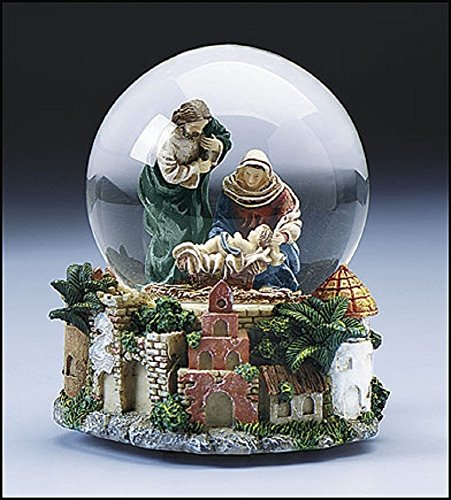 Nativity Snowglobe Scene (Musical Snow Globe Nativity scene, 5-1/2