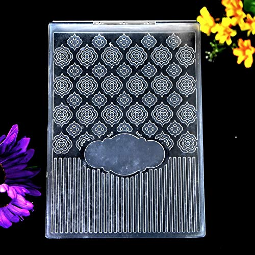 Kwan Crafts Flowers Plastic Embossing Folders for Card Making Scrapbooking and Other Paper Crafts 12.5x17.7cm