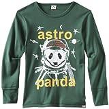 Appaman Big Boys' Astro Panda Tee, Evergreen, 8