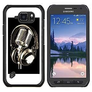 SKCASE Center / Funda Carcasa protectora - Micrófono de la vendimia Micrófono - Samsung Galaxy S6 Active G890A