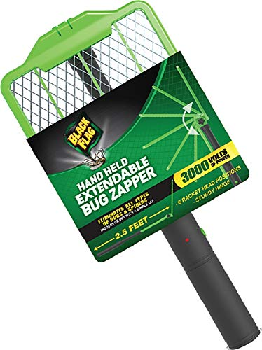 Black Flag ZR-8000 Extendable Handheld Bug Zapper, Green