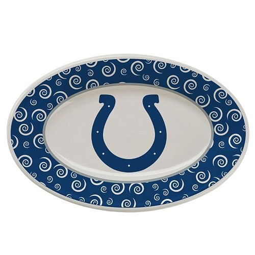 - The Memory Company Indianapolis Colts Swirl Platter NFL Football Ceramic Serving Chips Dip Food