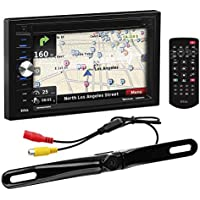 BOSS Audio BVNV9378RC Double Din, Touchscreen, Bluetooth, Navigation/GPS, Rear License Plate Mount Camera Included, DVD/CD/MP3/USB/SD AM/FM Car Stereo, 6.5 Inch Digital LCD Monitor, Wireless Remote