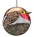 Regal Art & Gift Fat Bird 9 inches x 4 inches x 17.25 inches Metal Robin Seed Feeder - Feeder Accessories