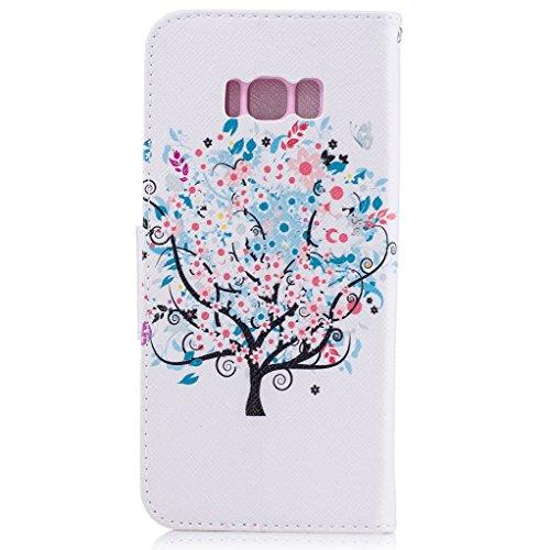 Trumpshop Smartphone Carcasa Funda Protección para Samsung Galaxy S8 (5,8 Pulgada) [Dont Touch My Phone (oso del bebé)] PU Cuero Caja Protector Billetera con Cierre magnético Choque Absorción árbol de la vida