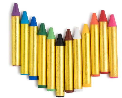 Dress Up America 12 Color Face Paint Safe & Non-Toxic Face and Body Crayons … at Gotham City Store