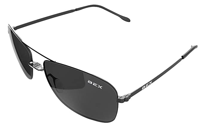 898bf75e7c Image Unavailable. Image not available for. Colour  Bex Sunglasses Nylon  Polarized Titanium Deklyn Black Grey D3X7Q