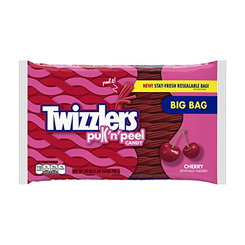 TWIZZLERS PULL 'N' PEEL Cherry Candy, 28 ()