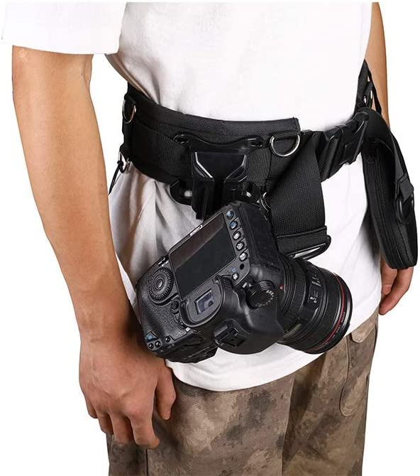 Camera Belt Accessory SLR Camera Fixed Belt Multi-Function Photography Waistband Mountaineering Lens Bag Hanging Strap Durable