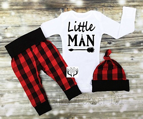 Boys Plaid Outfit, Boys Clothes by TheSouthernCloset101