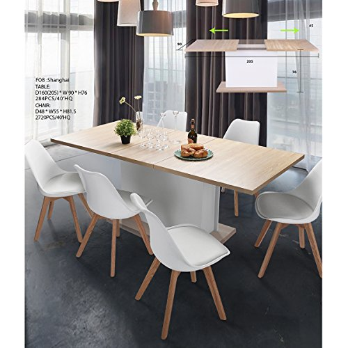 Extension Dining Table FurnitureR Extendable Rectangular ...