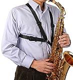 Glory Saxophone Strap,black New Adjustable Alto/tenor/baritone Sax Saxophone Harness Shoulder Strap