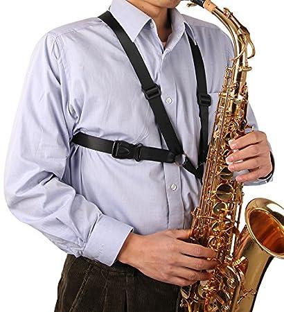 51gtevuc6fL._SY450_ amazon com glory saxophone strap,black new adjustable alto tenor