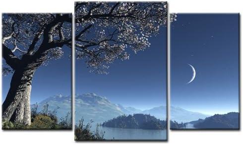 Top XXL imagen sobre lienzo paisaje de montaña imágenes 3 piezas Número de Referencia amxl30218 Azul