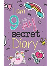 I Am 9 And This Is My Secret Diary: Unicorn Birthday Activity Journal Notebook for Girls 9th Birthday   Hand Drawn Images Inside   Drawing Pages & Writing Pages   A Cute, Magical 9 Year Old Birthday Book Gift