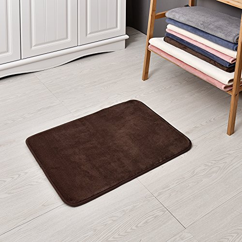 Coral Bells Shade (Welland WHM100-240 Memory Foam Bath Mat and Shower Rug, Chocolate)