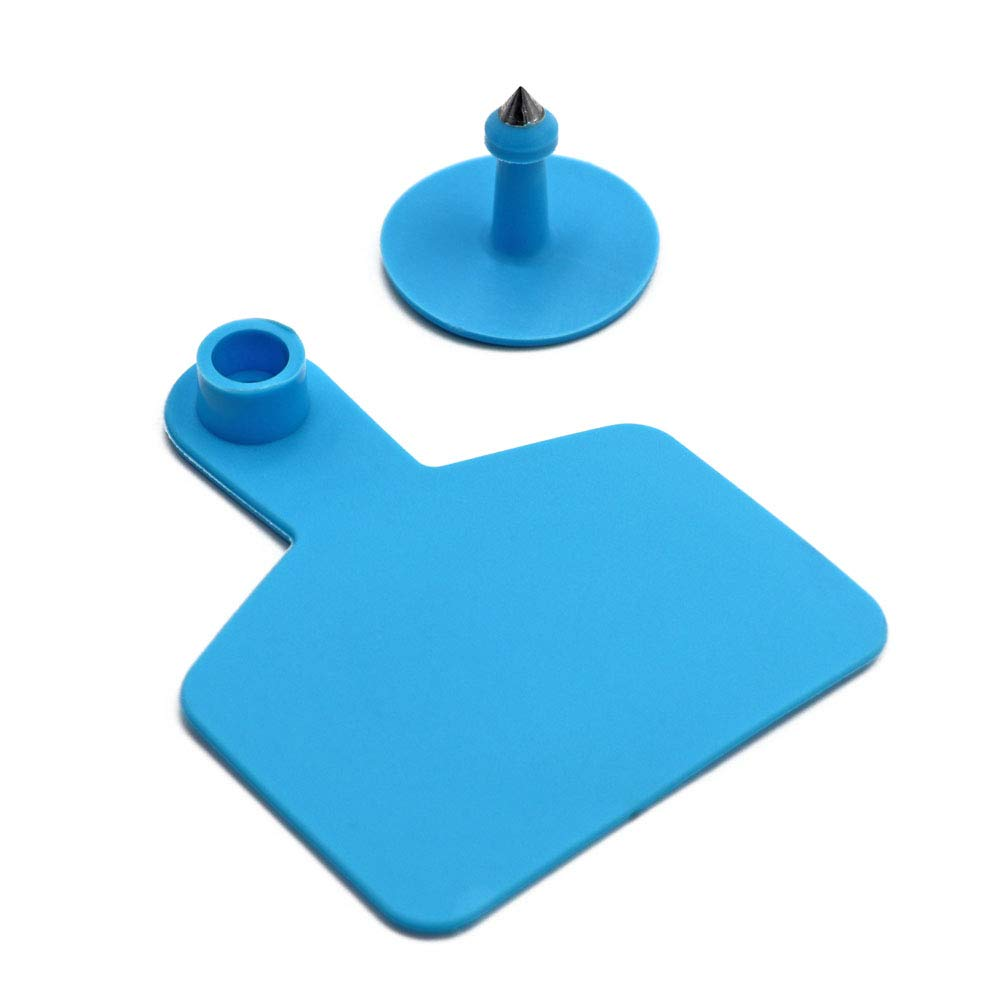 M.Z.A Blank Ear Tags for Cattle Ear Tags Blue Livestock Ear Tags for Cows Hogs Sheep, 100 Pieces, Blue by M.Z.A