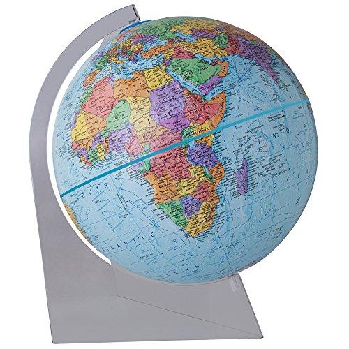 Replogle Desktop World Globe (Replogle Globes Highlands Desktop Globe with Blue Oceans and Lucite Stand, 12