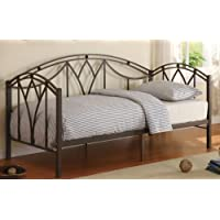Poundex Modern Style Metal Day Bed, Black