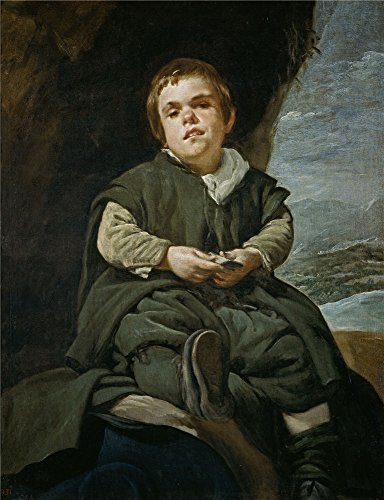 Oil Painting 'Velazquez Diego Rodriguez De Silva Y Francisco Lezcano The Boy From Vallecas Ca. 1640' 16 x 21 inch / 41 x 53 cm , on High Definition HD canvas prints, Basement, Bed Room And Kid decor (Picture Blackberry Pearl)