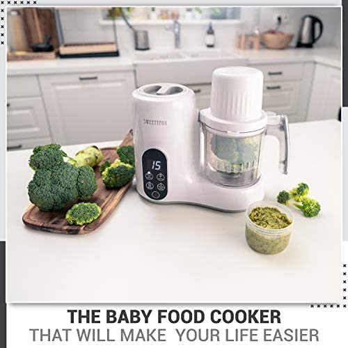 51gtg6 GIAL. AC - 6-in-1 Baby Food Maker Steamer And Blender - Vegetable Steamer, Baby Food Blender, Bottle Sanitizer, Food Warmer, Defrost, Auto Clean - Baby Food Processor To Make Organic Baby Food