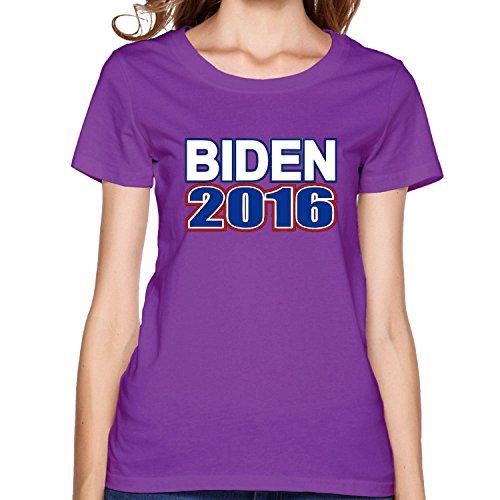 Biden 2016 T-shirt L Purple for Women