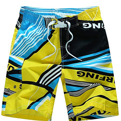 Trunks Mesh Sport In Short Beach I Fodera Surfing Pantaloncini Per Migliori Yellow Nuoto Quick Traspirante Uomo color Green M Dry Corsa Gli Da Swim Size Surf Shizheshop vEaxwTT