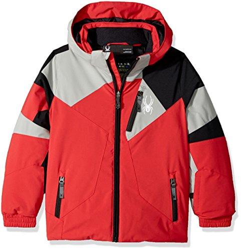 - Spyder Mini Leader Ski Jacket, Red/Limestone/Black, Size 5